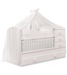 Кроватка трансформер Cilek Baby Cotton с выдвижным спальным местом...