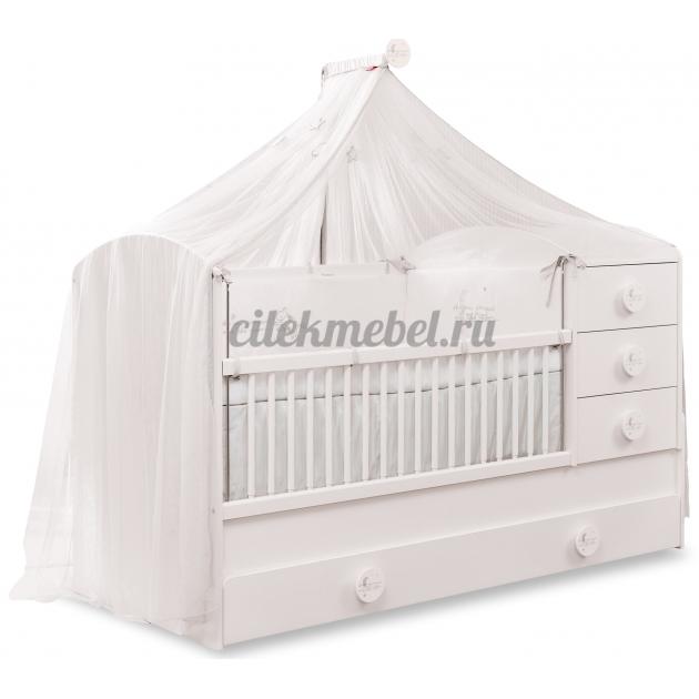 Кроватка трансформер Cilek Baby Cotton с выдвижным спальным местом