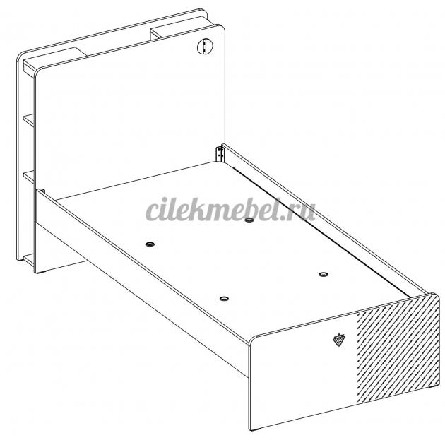 Кровать Cilek Black 200 на 120 см