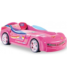 Кровать машина Cilek Biturbo розовая