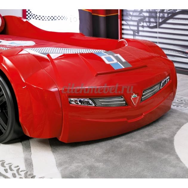 Кровать машина Cilek Turbo Max красный