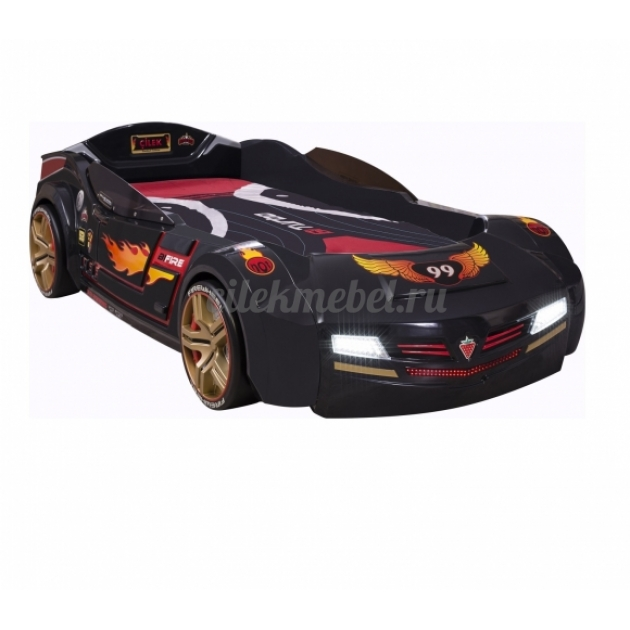 Кровать машина Cilek Biturbo черная