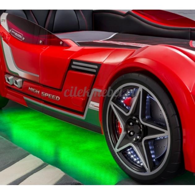 Кровать машина Cilek GTS красная