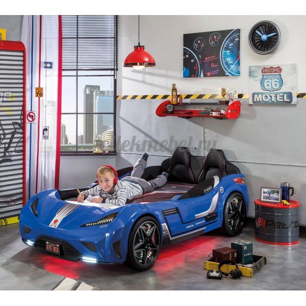 Кровать машина Cilek GTS синяя