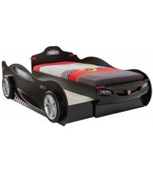 Кровать машина с выдвижным спальным местом Cilek Coupe черная...