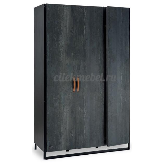 Трехстворчатый шкаф Cilek Dark Metal