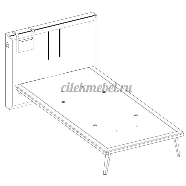 Кровать Cilek Dark Metal 200 на 120 см