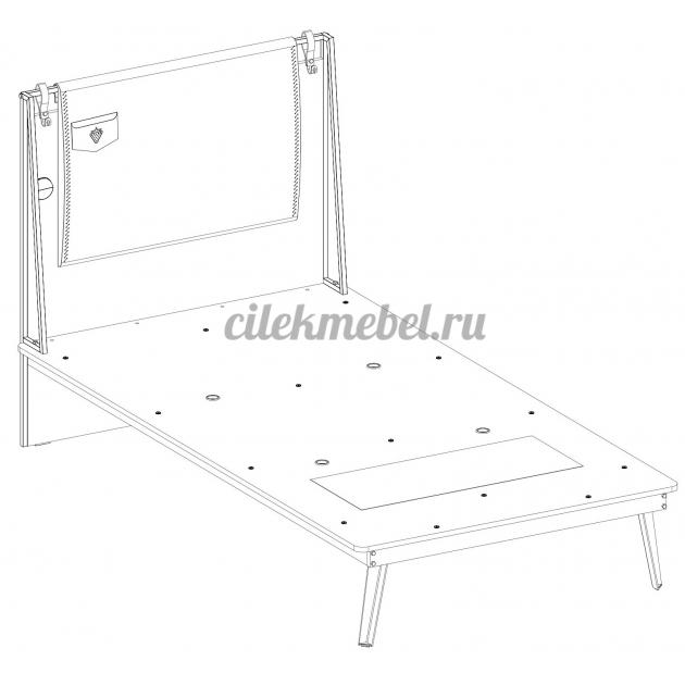 Кровать Cilek Dark Metal 200 на 100 см