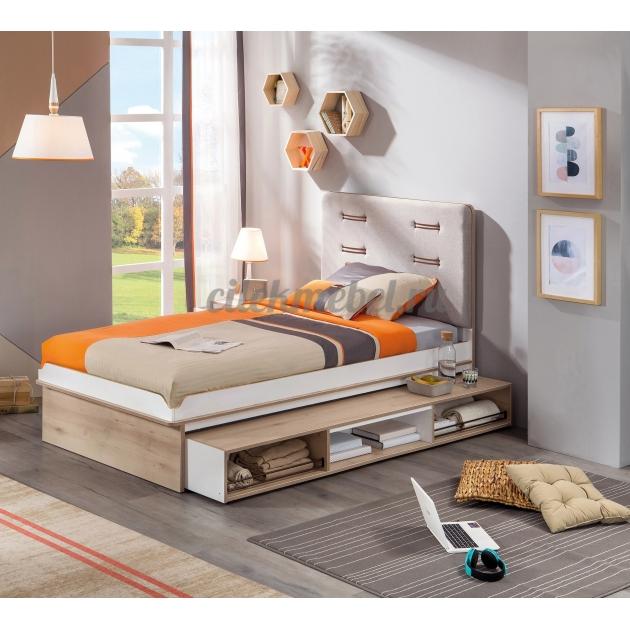 Выдвижное спальное место Cilek Dynamic с полочками 190 на 90 см