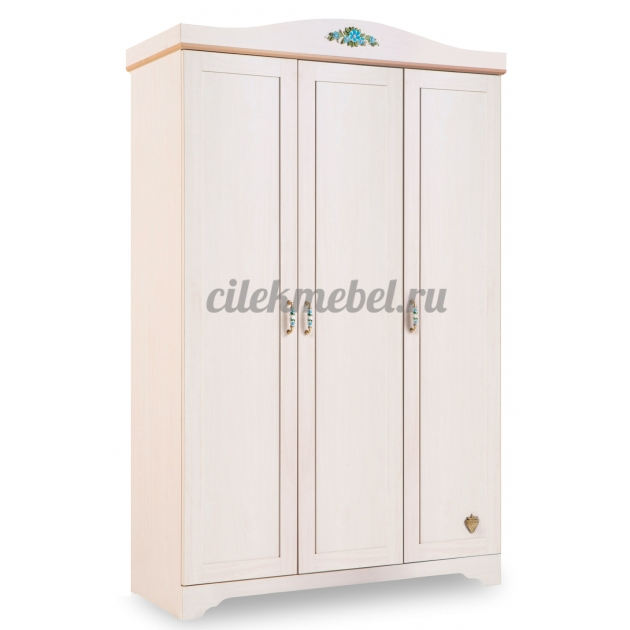 Трехстворчатый шкаф Cilek Flora Classic