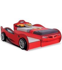 Кровать машина Cilek Racecup c выдвижной кроватью 190 на 90 см...