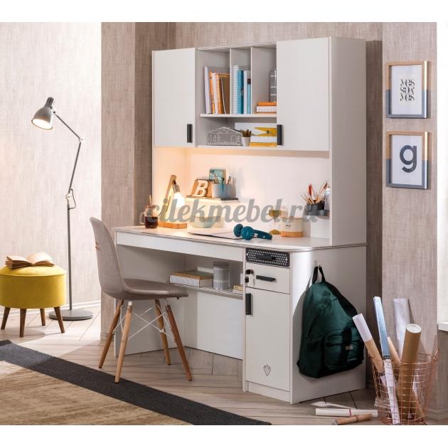 Надстройка к большому письменному столу Cilek White